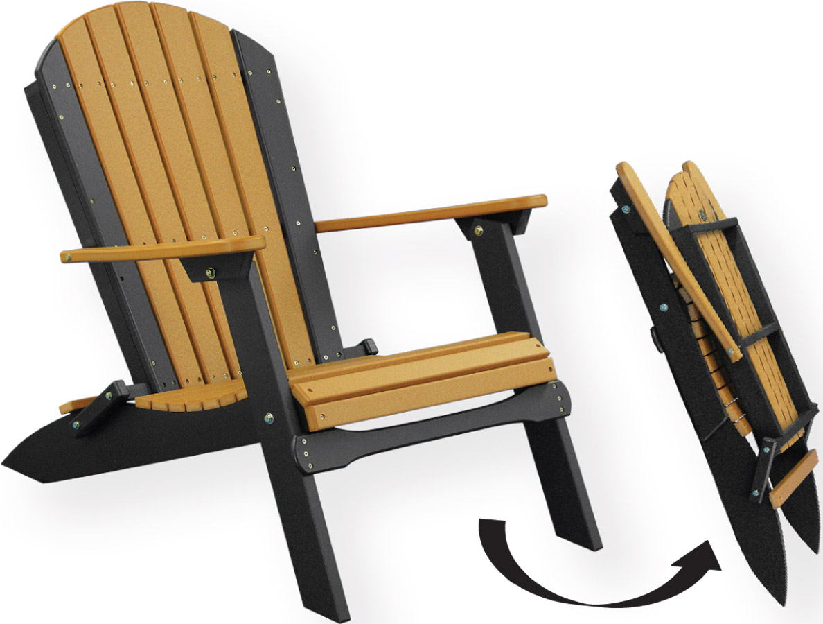 Poly Folding Adirondack Chair 2